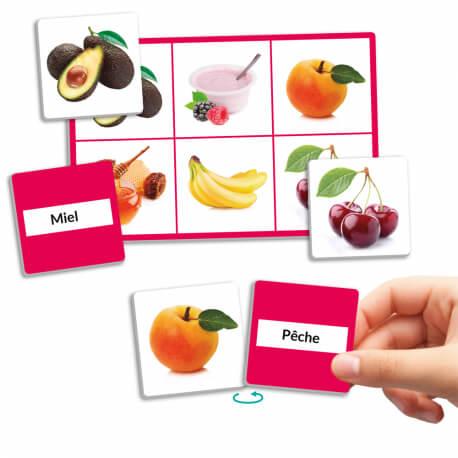 Loto des aliments - un jeu d'association sur l'alimentation