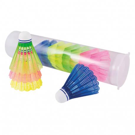 Volants de badminton colorés