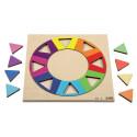 Puzzle cercle arc-en-ciel