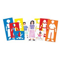 Pochoirs personnages famille - Activité de création manuelle