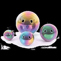 Balles miroir colorées Snoezelen