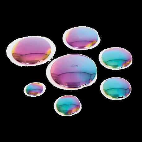 Galets miroir colorés