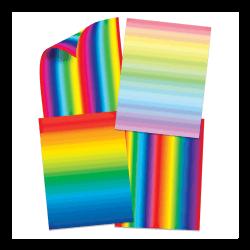 Papier décoratif Arc-en-ciel double face