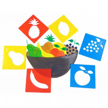 Pochoirs Fruits
