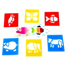 Pochoirs Animaux - Loisirs créatifs et activités manuelles - Atelier dessin