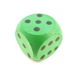 Dé en mousse vert