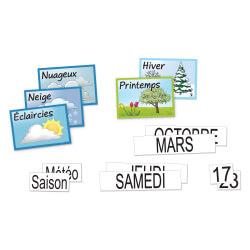 Kit éphéméride magnétique - tableaux, panneaux d'affichage pour ehpad
