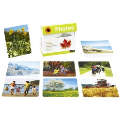 Imagier photos Les saisons - Atelier photo langage et mémoire seniors