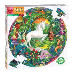Puzzle géant 500 pièces rond  - Licorne