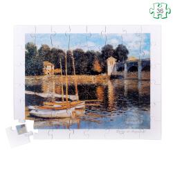 Puzzle en bois 36 grandes pièces - Pont d'Argenteuil de Monet