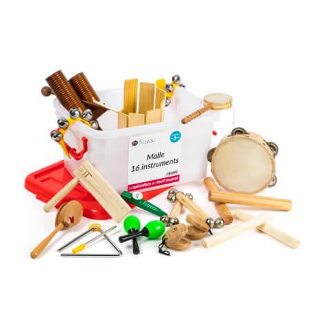 Malle de 16 instruments - Matériel pour atelier musical personnes âgées