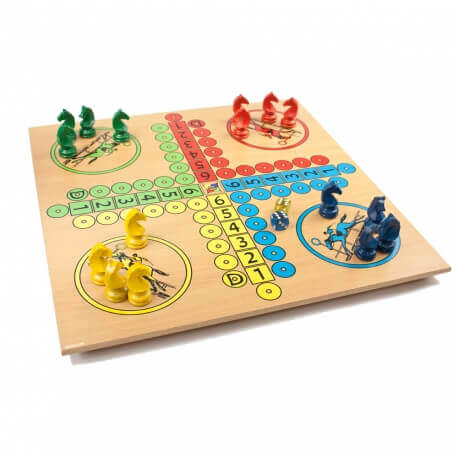 Petits chevaux - jeu grande taille en bois - jeux de société classique