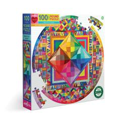 Puzzles ronds 100 pièces - Beauté de la couleur