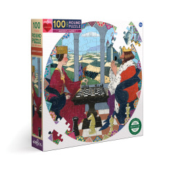 Puzzles ronds 100 pièces - Reine et roi