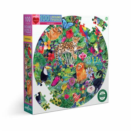 Puzzles ronds 100 pièces - Forêt tropicale