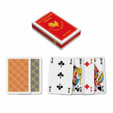 jeu de 54 cartes 100% plastique index français