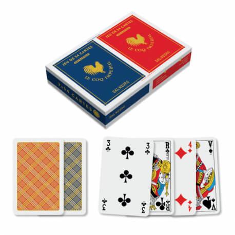 2 jeux de 54 cartes 100% plastique index français