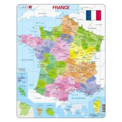 Puzzle avec contour France et Régions - Puzzle cadre contour