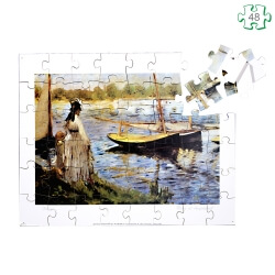 Puzzle en bois grandes pièces xxl – Rivière d'Argenteuil Manet - séniors