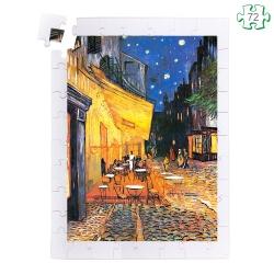 Puzzle pièces en bois grande taille pour séniors - Van Gogh le Cabaret