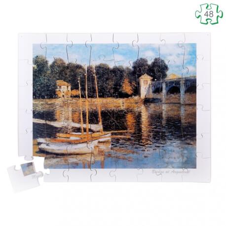Puzzle en bois grandes pièces xxl pour séniors - Pont d'Argenteuil de Monet