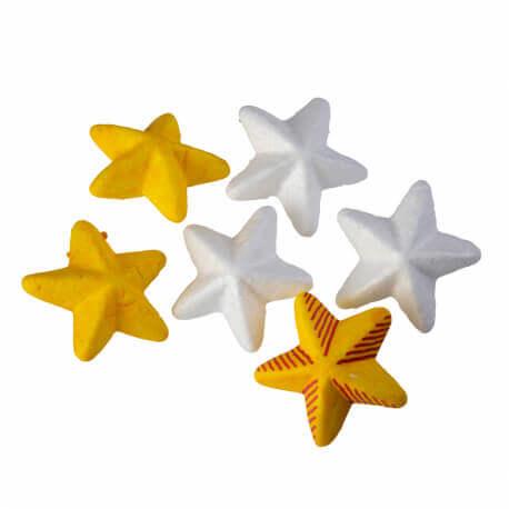 Étoiles en polystyrène à décorer – lot de 20