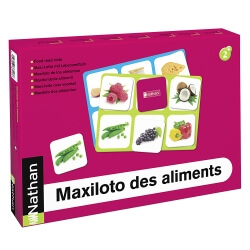 Maxiloto des aliments - Jeu de loto sur l'alimentation et la nutrition