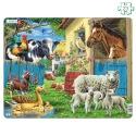 Puzzle 23 pièces avec contour Animaux de la ferme