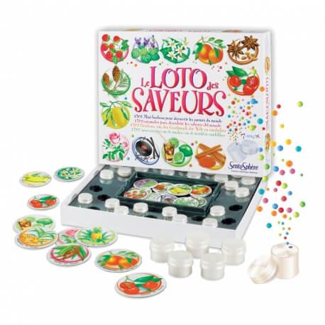Le loto des saveurs - jeu pour reconnaître les odeurs - stimuler l'odorat
