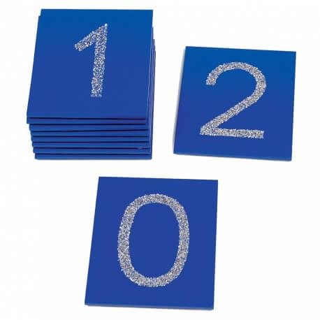 Toucher Plaques tactiles : les chiffres