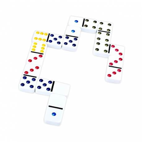 Domino couleur traditionnel - Jeu de dominos classiques en résine