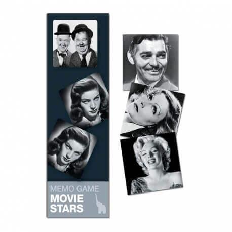 Mémo Stars de cinéma - Jeu du mémory adapté aux séniors - réminiscence