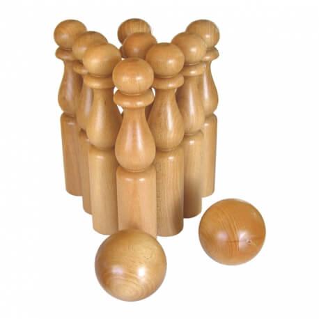 Jeu de Quilles en bois traditionnelles – Jeux d'animation classiques