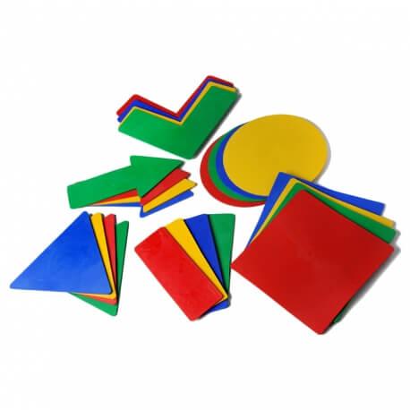Empreintes géométriques - Marquages au sol pour parcours de motricité