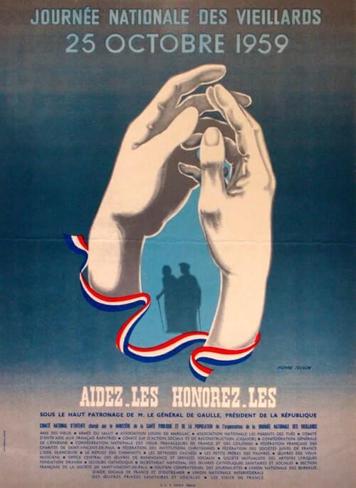 affiche de la semainebleue 1959