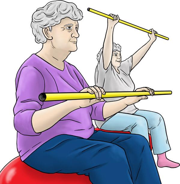 Séance de sport avec des personnes âgées