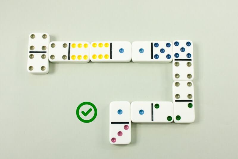 Chaine de dominos ouvert