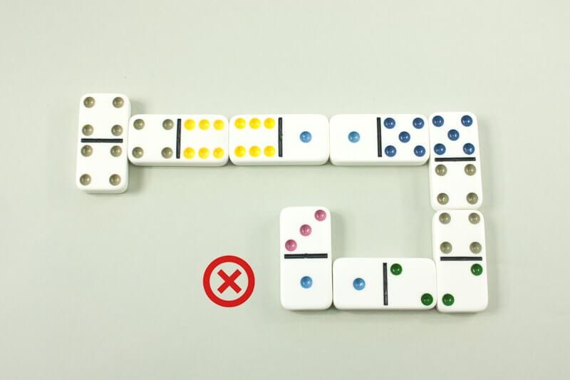Jeu de dominos fermé