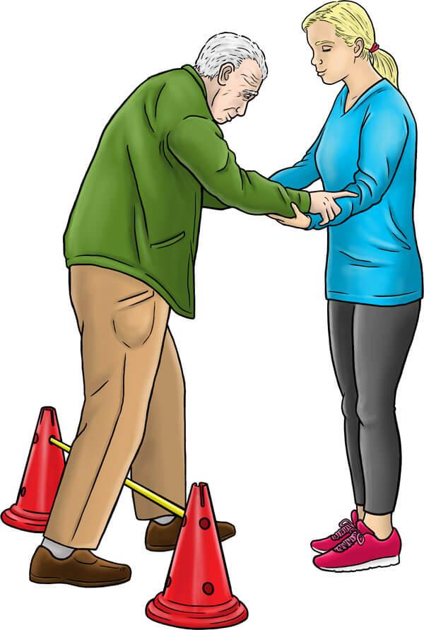 Maintenir l'équilibre et faire traivailler la souplesse des personnes âgées
